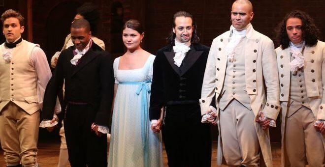 Hamilton cast final bow
