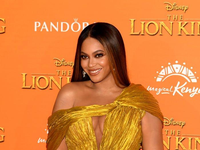 Beyonce at Lion King premier