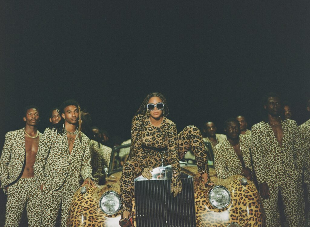 Beyonce in Black Is King with cast