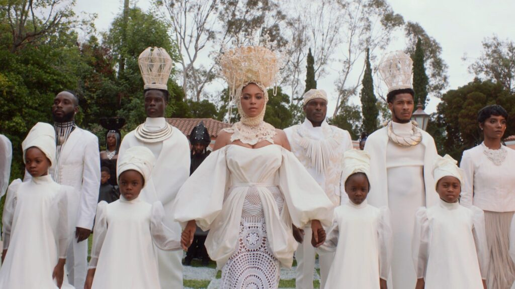 Beyonce with cast in Black Is King visual album