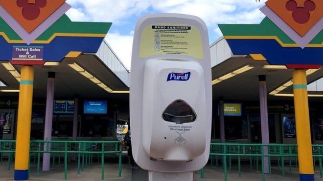 Hand Sanitizer in Disney World