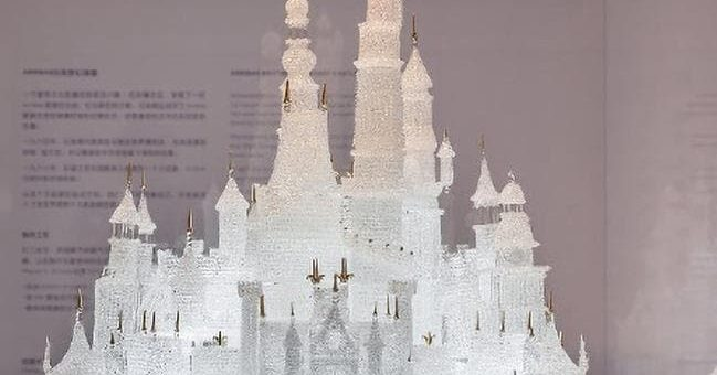 Shanghai Disneyland Castle Glass Model