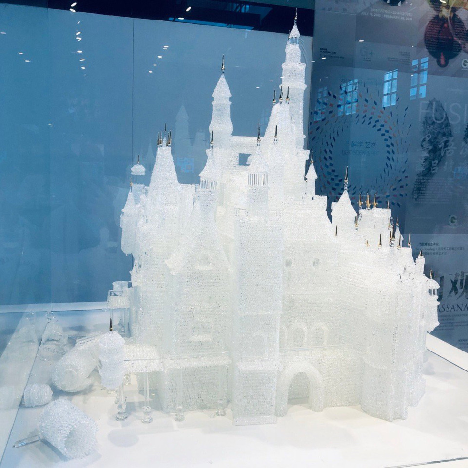 Glass model based on Cinderella's Castle