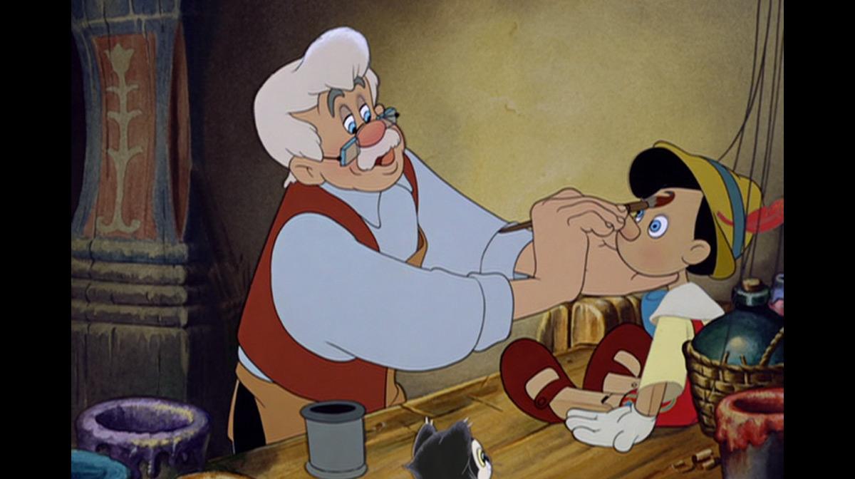 Geppetto in pinocchio